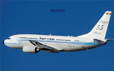 TAROM B737 (55-Years) Tag